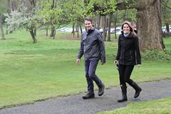 JHC Trustee Elisabeth Casey arrives with her husband Matt
