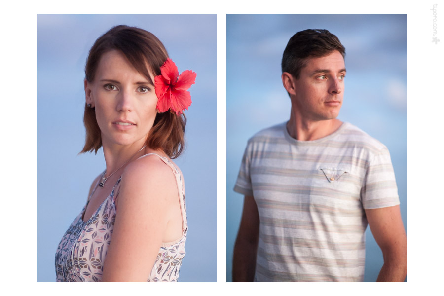 Sunset Portraits. sunset, Rarotonga portrait photographer
