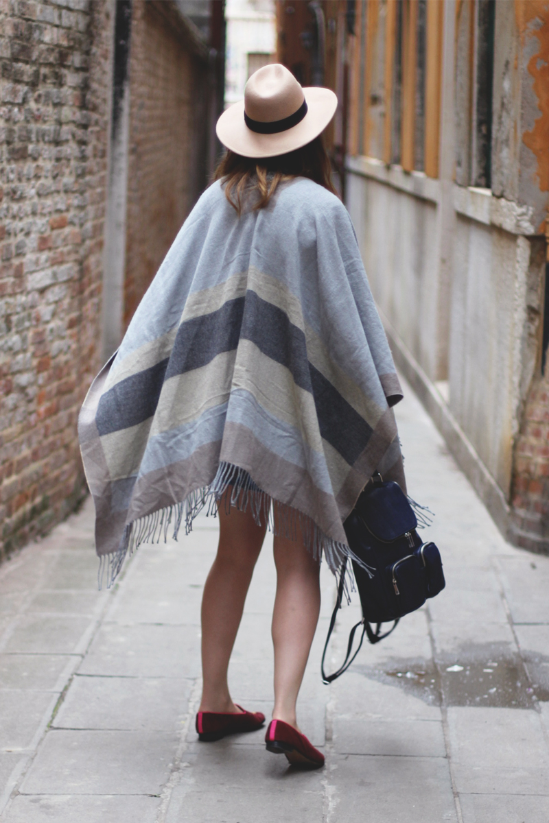Asos Escape Poncho, Bumpkin Betty style Blog