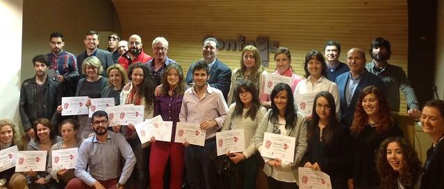 Foto de familia de los participantes y jurado del IV Festival Escapararte