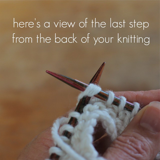 how to knit an SSP 5