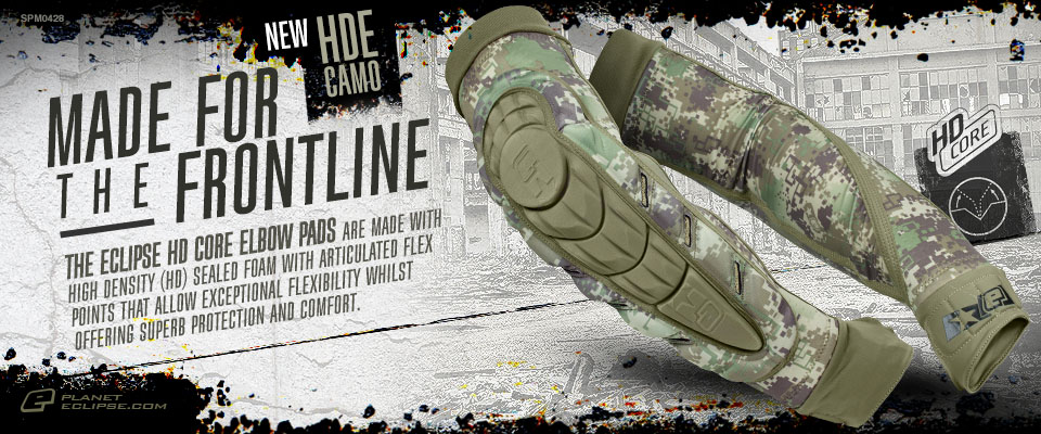 New Eclipse HD Core Elbow Pads in HDE Camo
