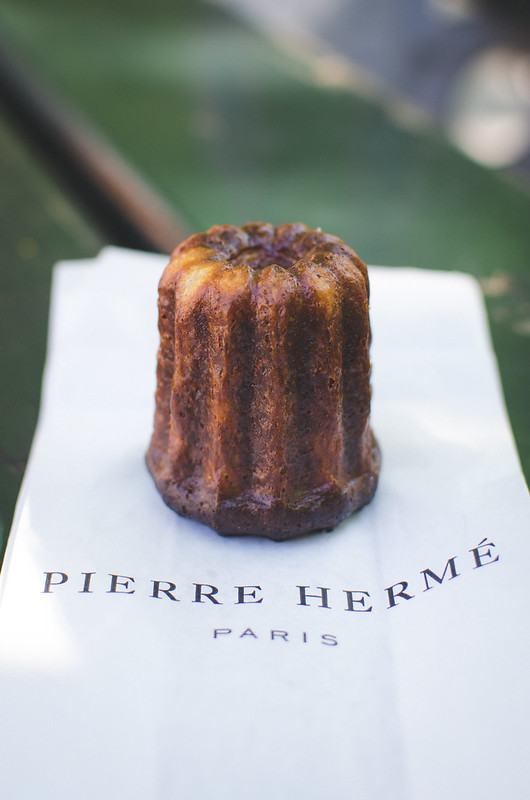 You must try a canelé from Pierre Hermé, the world famous bakery in Paris.