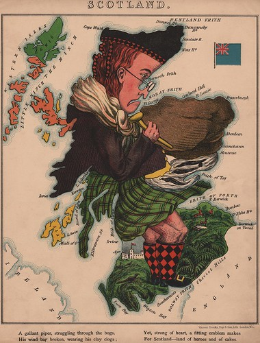 Caricature map of Scotland by Aleph