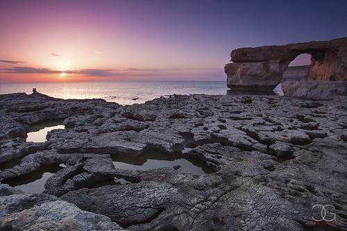 sunset gozo dwejra azurewindow