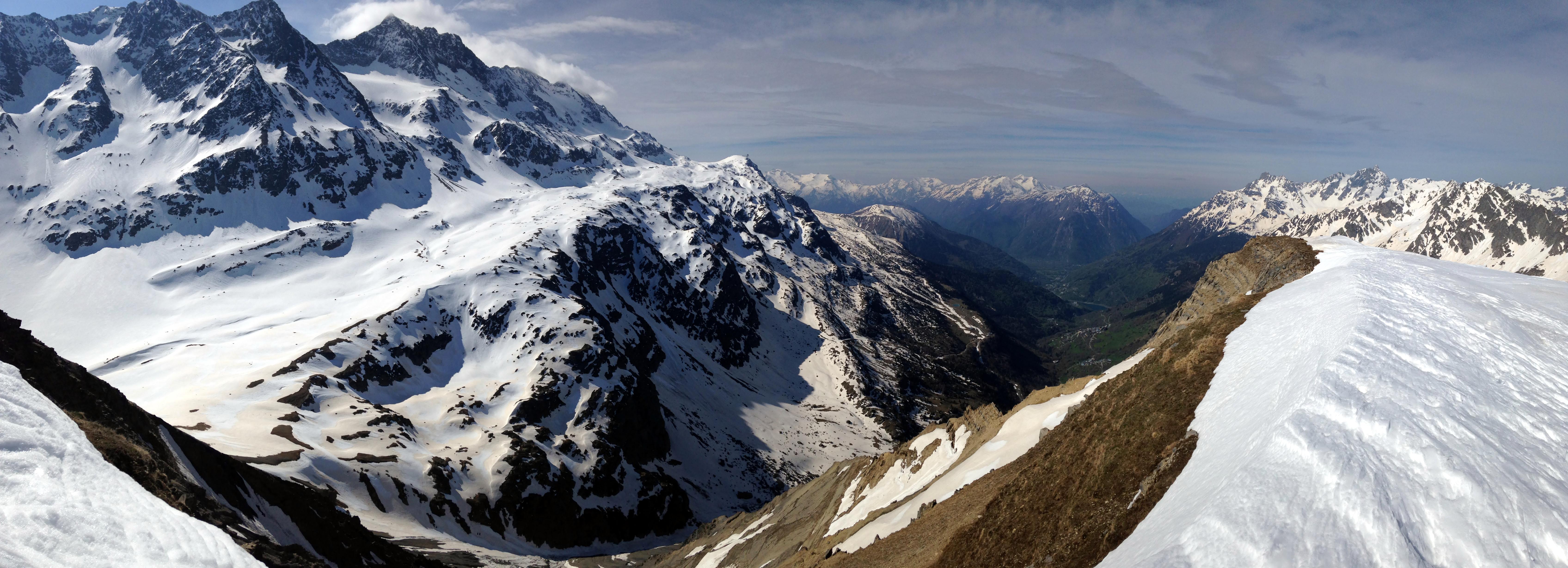 Panoramique au sommet des Aiguillettes de Vaujany