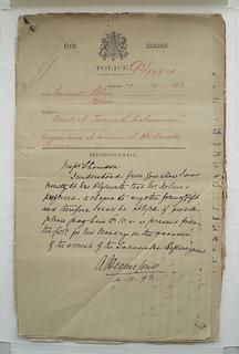 Robert Wallath Police File, 1893