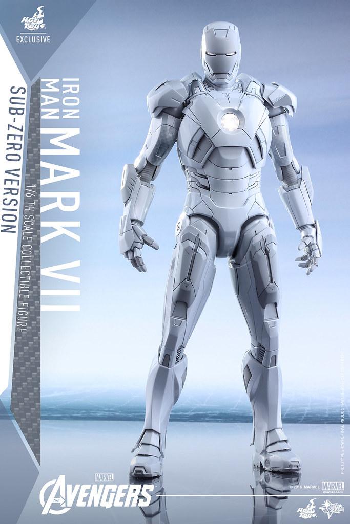 Hot Toys – MMS329 – 復仇者聯盟【鋼鐵人馬克7 極地版】Mark VII Sub-Zero Ver. 1/6 比例人偶作品