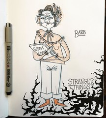 Starting my #StrangerThings #sketchseries with fashion fav, #Barb! #netflix #fanart #drawmore #artistsoninstagram #moleskine #artistworkout #ShannonPurser