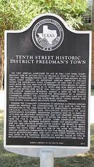 Tenth Street Historic District Freedmen's Town TxHM
