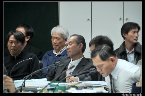 2011年3月,趙藤雄出席審查會,態度堅定。攝影:Munch