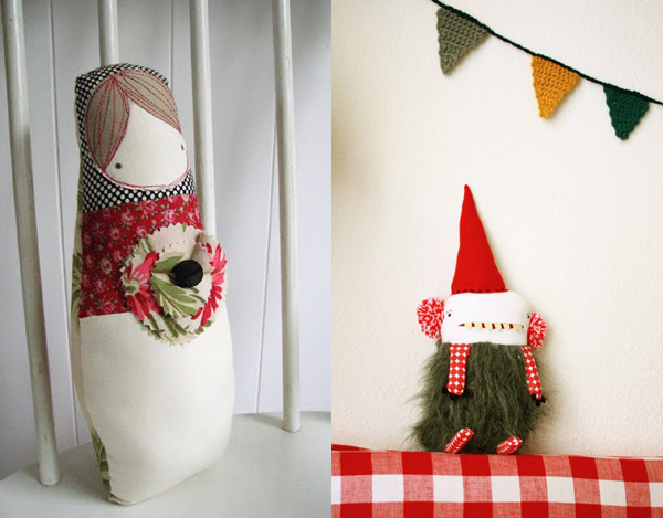 Red and white festive Etsy favourites curated by Emma Lamb