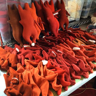 Lots and lots and lots of foxes in progress #behindthescenes