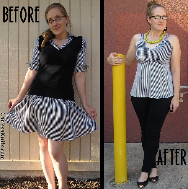 Slinky Striped Top - Before & After