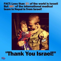 Israel: tiny country, huge heart.
