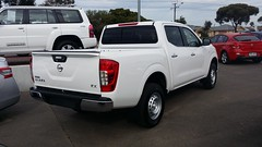 mazda bt-50(0.0), automobile(1.0), automotive exterior(1.0), pickup truck(1.0), wheel(1.0), vehicle(1.0), truck(1.0), compact sport utility vehicle(1.0), nissan(1.0), bumper(1.0), nissan navara(1.0), land vehicle(1.0),