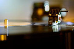 Record player in action