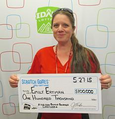 Emily Ertman from Nampa, ID - $100,000 $100,000 Bonus Bonanza Cashword