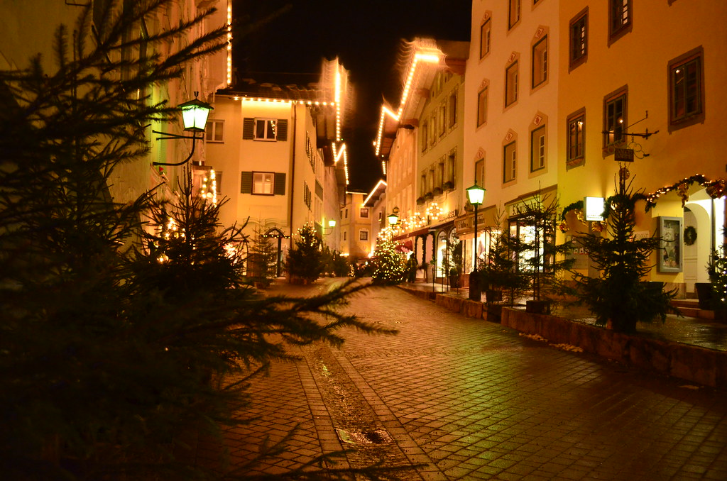 Christmas in Berchtesgaden at night