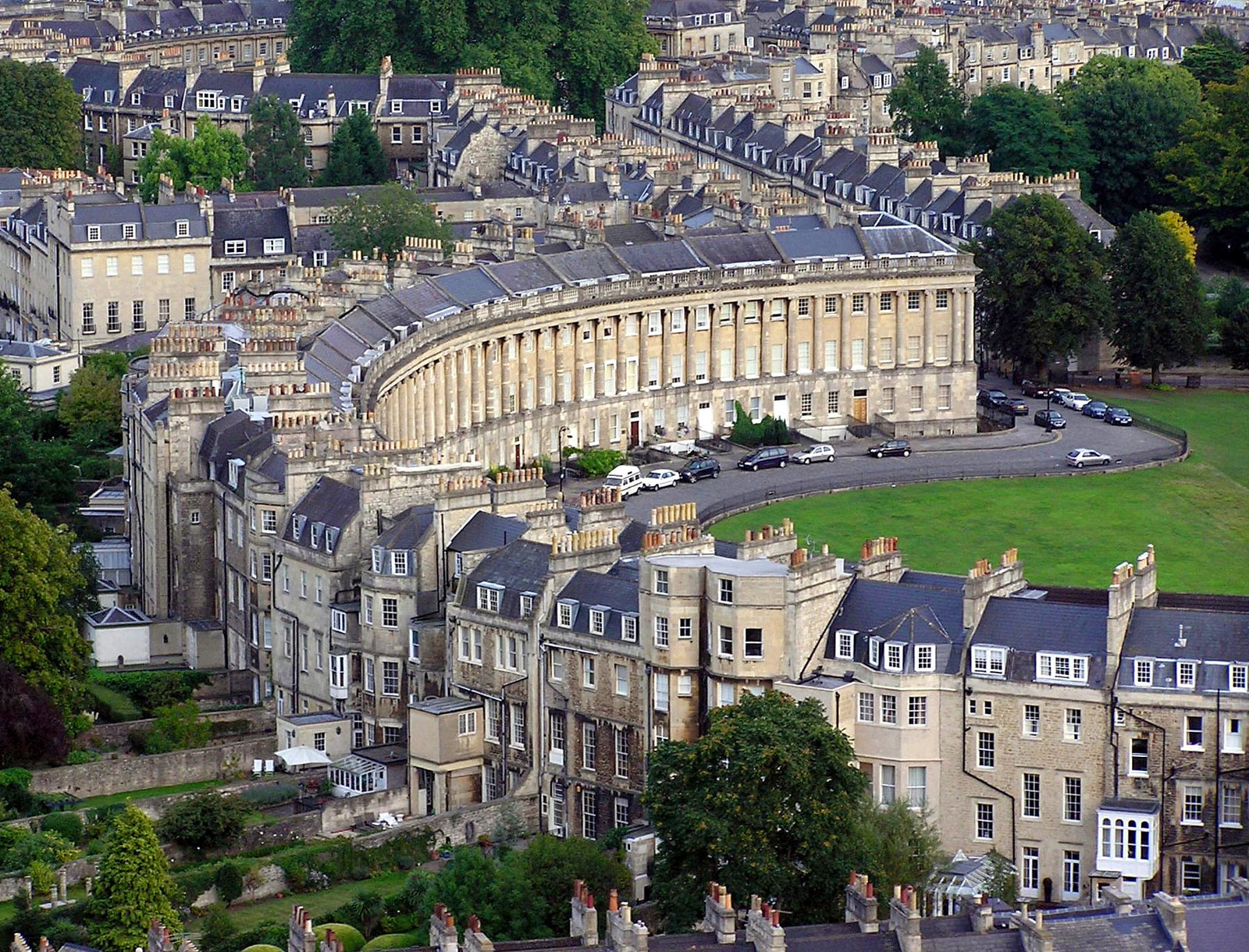The Royal Crescent in the City of Bath