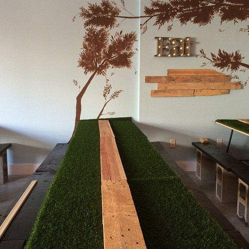 Oh geese! It's a nail biter, 4 spots left for Pick Your Price Preview Night! This table could be yours! http://ift.tt/1A6UjjF #kidfriendly #palletwood #locallysourced #carlsbad #may2 #restaurant