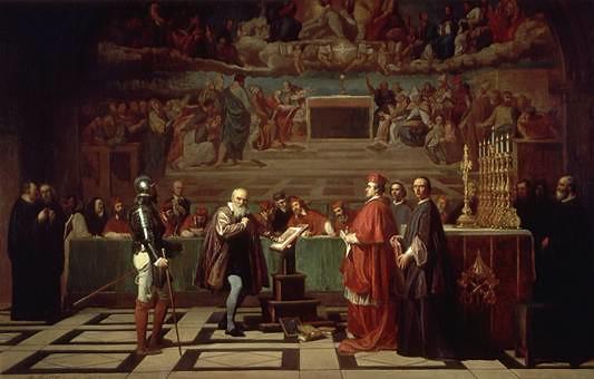 Galileo before the Holy Office by Joseph Nicolas Robert-Fleury