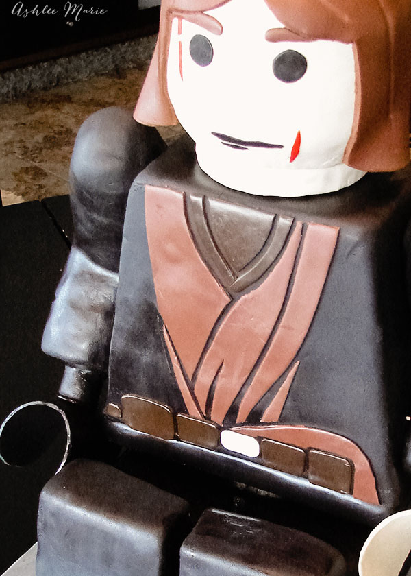 Sitting Lego Anakin Skywalker Fondant Carved Birthday Cake