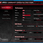 MSI GS60 2QE Ghost Dragon Gaming Center, System Monitor