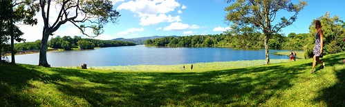 Picnic by the lake on the way home from Nimbin