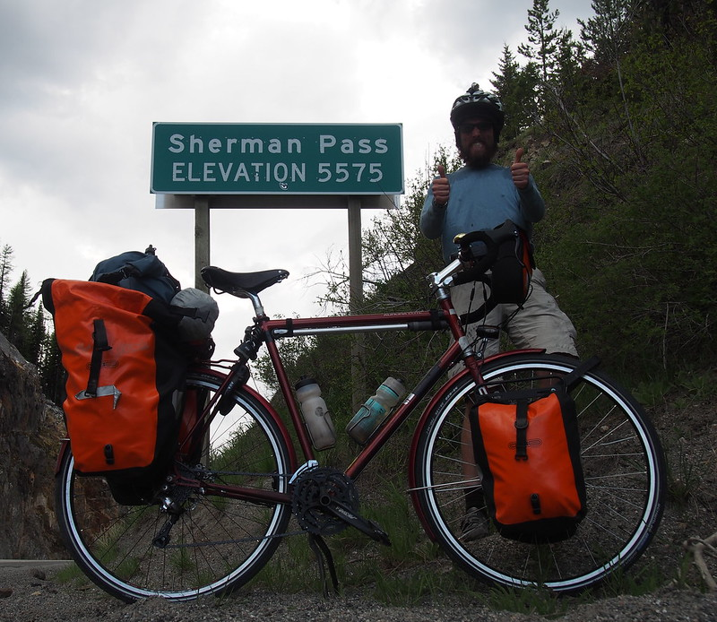 Sherman Pass Summit: I felt more enthusiastic after each climb.