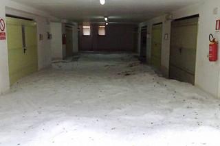 garage putignano via mascagni invasa dalla grandine