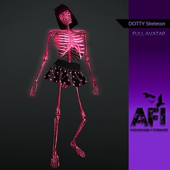 AFI Designs ~ DOTTY SKELETON AVATAR AD
