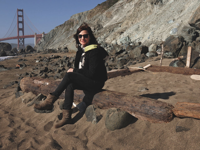 Maite, Marshall Beach; The Presidio, San Francisco.  April 29, 2015