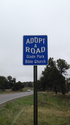 road cleanup roadsign adoptaroad gpbc gladeparkbiblechurch