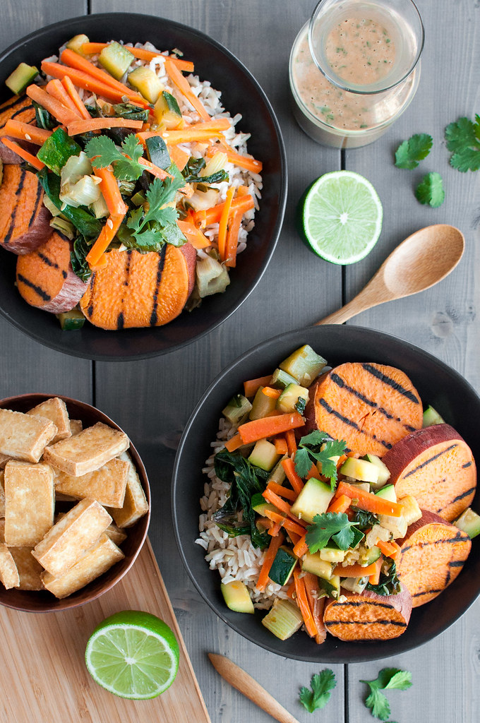 Sweet Potato Stir Fry Bowl with Peanut SauceNatural Comfort Kitchen