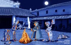 quema de libros El Quijote