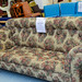 Chesterfield fabric three seater sofa