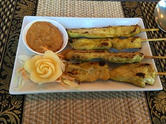 Chicken Satay Skewers at Eat Thai, Ely, Cambridges…