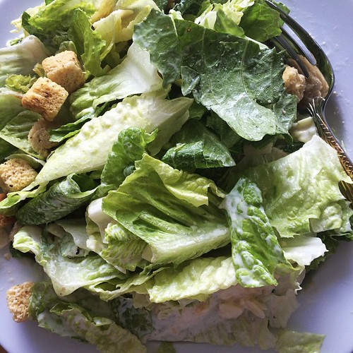 Caesar salad for my late lunch.
