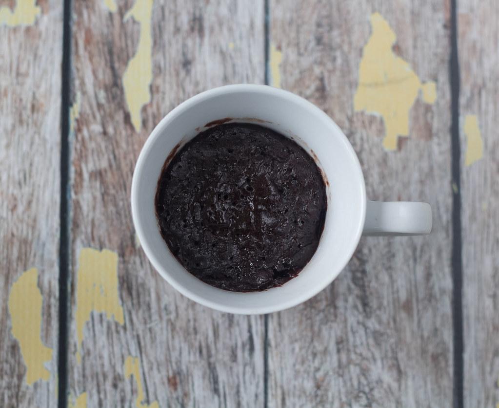Opskrift på hjemmelavet nem Chokoladekage i mikroovnen - kun 5 minutter