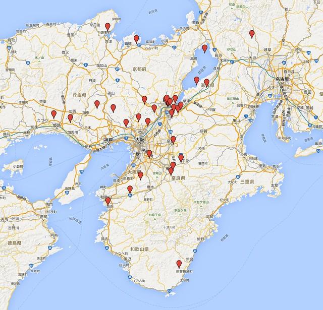 西国三十三所地図