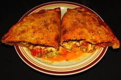Ground Bison, Mushroom & Tomato Calzone
