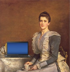 Mary Chamberlain, Blogging, after John Everett Millais