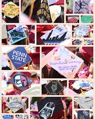 Here are some of the caps from yesterday's graduation. Photos by Mrs. Neumann. #caps #graduation