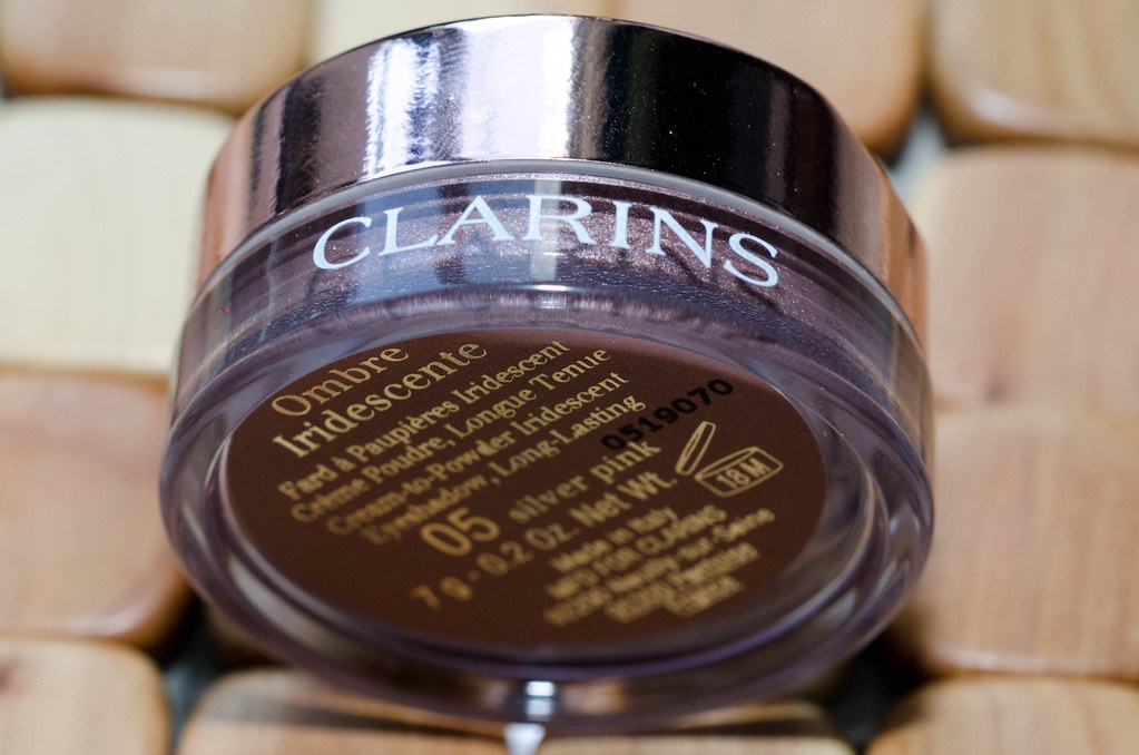 Clarins Ombre Iridescente 05 silver pink отзыв, свотчи