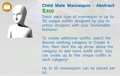Child Male Mannequin Abstract