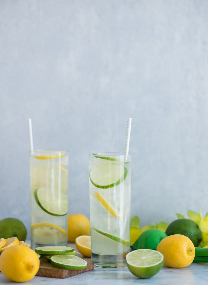 Simple Citrus and Coconut Cocktail www.pineappleandcoconut.com