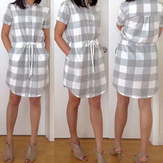 Lou & Grey Checked Shirtdress, size XSP