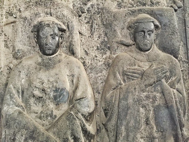 Lápida en la abadía de San Bavón (Bélgica)