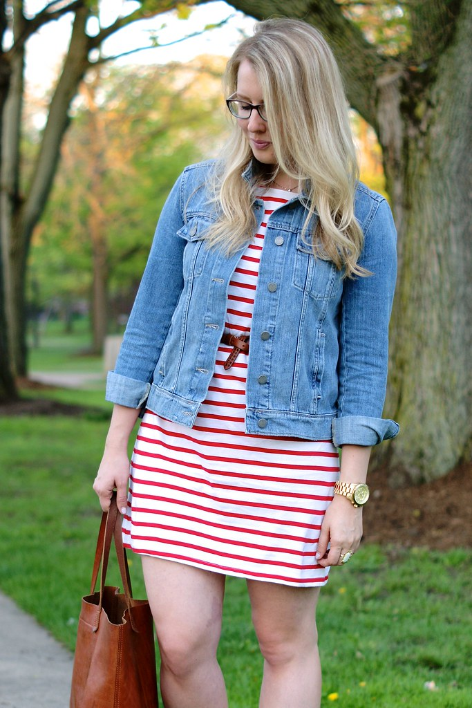 MILLY for DesigNation Striped T-Shirt Dress